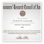 Neurosurgeon Farhad M. Limonadi, M.D. Certificatel 11